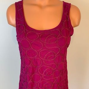 Burgundy Sleeveless Tank Top by Ann Taylor Large